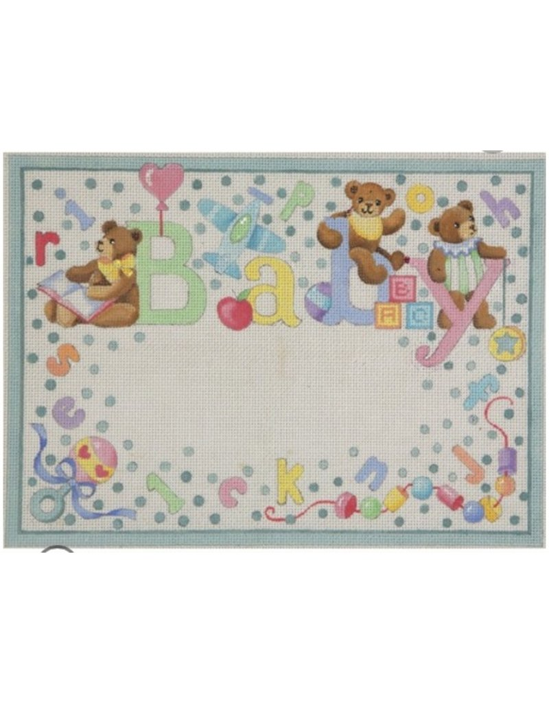 Alice Peterson Bears & Dots Baby Birth Announcement