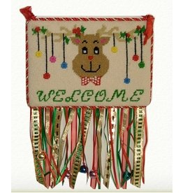 Canvas Connection Reindeer Christmas Welcome sign