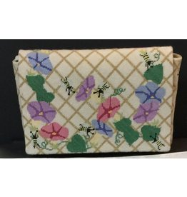 "Meredith Morning Glories Clutch Purse<br /> 17.5"" x 7"""