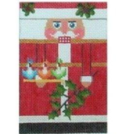 "Julia 3 French Hens Santa Rollup ornament<br /> 6"" x 3.25"""