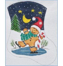 Danji Skating Gingerbread Mini Stocking - ornament