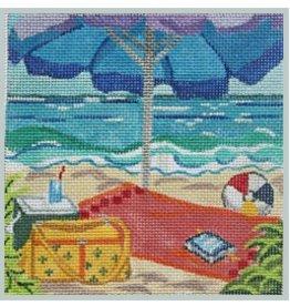 "Julie Mar Beach Scapes - Tropical Beach Front<br /> 5"" x 5"""