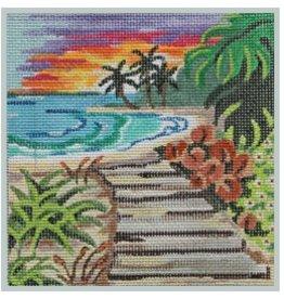 """Julie Mar Beach Scapes - Beach Sunset<br /> 5"""" x 5"""""""