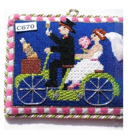 The Princess & Me Bride & Groom Bicycle Built for Two - ornament