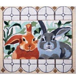 "Melissa Prince Garden Rabbits<br /> 10"" x 9"""
