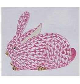 Kate Dickerson Herend Bunny (pink) crouching
