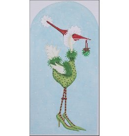 "Kate Dickerson Christmas Goose in Heels<br /> 5.5"" x 10.75"""