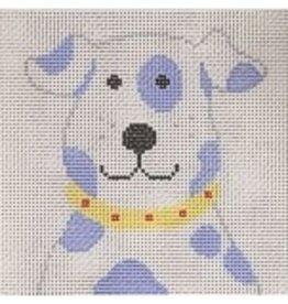 "Stitch-It Blue &amp; White Dog<br /> 8"" x 8"""