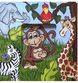 Robbyn&#039;s Nest Jungle Animals<br /> Frame &amp; Needlepoint