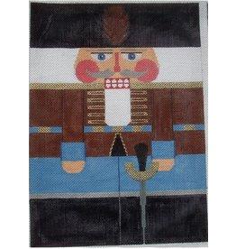 "Julia Russian Hussar Nutcracker Large Rollup 15"" x 13"""