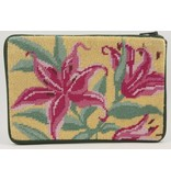 Alice Peterson Pink Lilies Cosmetic Case