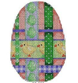 "Associated Talent Chick Woven Ribbon Egg ornament<br /> 2.25"" x 3.5"""