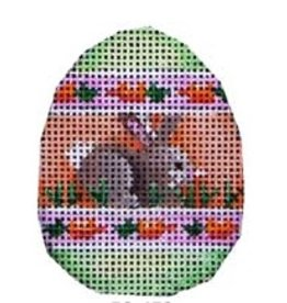 Associated Talent Bunny/Carrot Stripes Mini Egg
