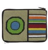 Alice Peterson Stripes & Circle coin purse/credit card case