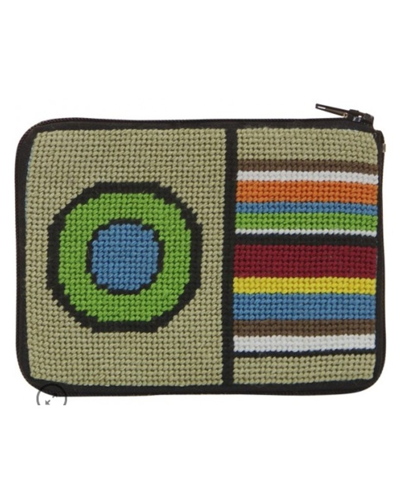 Alice Peterson Stripes & Circle coin purse/credit card case