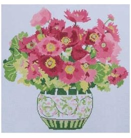 "Jean Smith Designs Cosmos Bouquet<br /> 14"" x 14"""