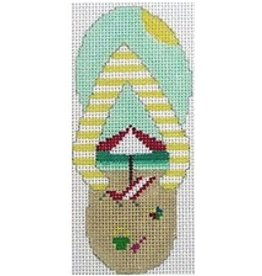 "Julia Beach Flip Flop ornament<br /> 4"" x 2.5"""
