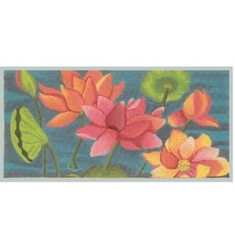"Julie Mar Lotus Pond II<br /> 8.5"" x 4"""