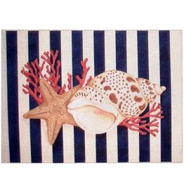 Associated Talent Shell/Starfish Stripes w/Navy Stripes