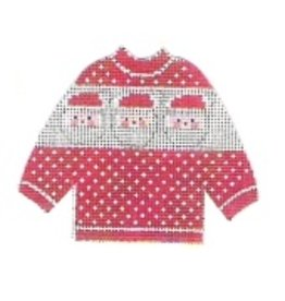Stitch-It Pullover Sweater - red with Santa's face - ornament