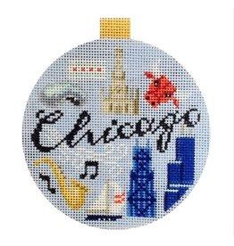 "Kirk &amp; Hamilton Chicago ornament<br /> 4"" Round"