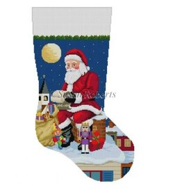 Susan Roberts Santa Reading List stocking