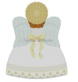 Susan Roberts Tree Topper Angel - white - back