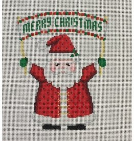 "Susan Roberts Banner Santa <br /> ""Merry Christmas"" - ornament"