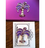 Accoutrement Designs Purple Palm Tree Needle Safe & Magnet