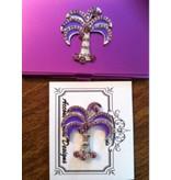 Accoutrement Designs Purple Palm Tree Needle Safe & Magnet