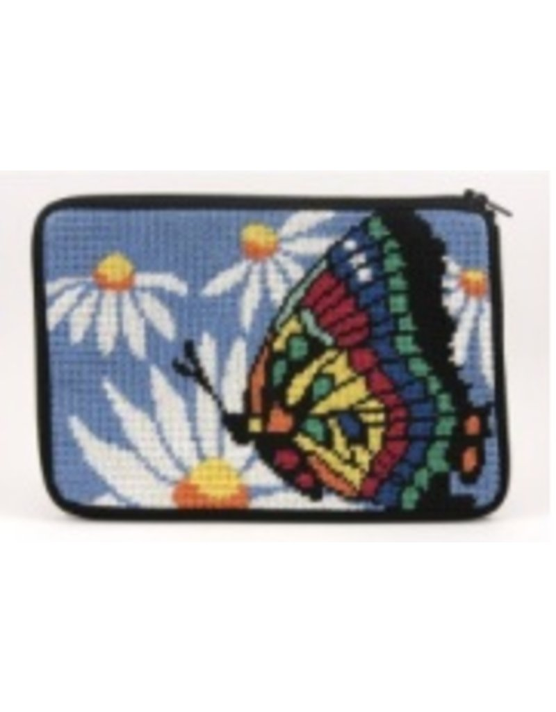 Alice Peterson Butterfly & Daisies Cosmetic Purse