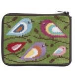Alice Peterson Birds of Color coin purse/ credit card case