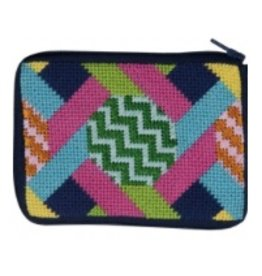 Alice Peterson Hexagons & Ribbons coin purse/credit card case