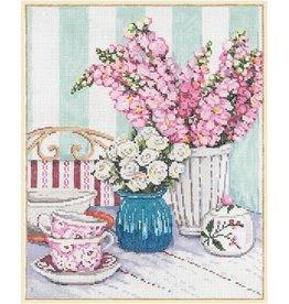 Fleur de Paris Snapdragons &amp; Teacups<br />8&quot; x 10&quot;