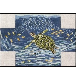 Needle Crossing Sea Turtle Brick Cover