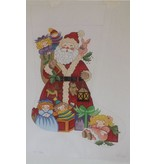 Alexa Santa with dolls stocking