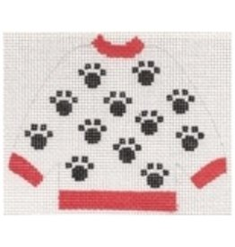 Stitch-It Dog Paw Pullover Sweater - ornament