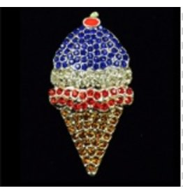 Meredith Red, White & Blue Ice Cream Cone magnet