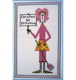 "Danji I'd Rather Be Stitching<br /> 5.5"" x 10"""