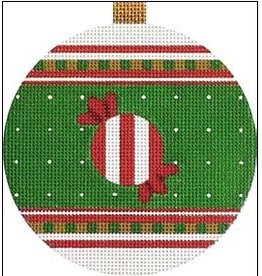"""Melissa Shirley Red - Candy ornament<br /> 4"""" Round"""