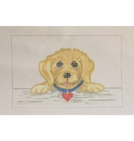 "Annie Lee Puppy w/heart<br /> 6"" x 4""<br /> (fits into the shutter picture frame)"