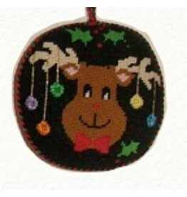 "Canvas Connection Moose Circle Ornament<br /> 4.5"" Round"