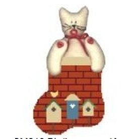 Kathy Schenkel Birdhouse Mini Stocking w/Kitty ornament