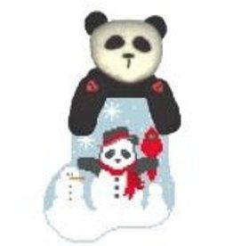 Kathy Schenkel Panda Snowman w/Panda ornament
