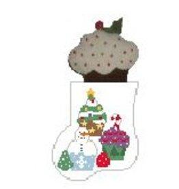 Kathy Schenkel Cupcakes Mini Stocking w/Cupcake Mini Stocking ornament