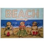 "Alice Peterson Sandpeople Beach Pillow<br /> 12"" x 9"""