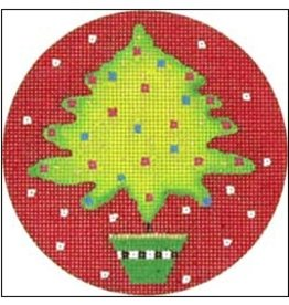 "Melissa Shirley Christmas Tree ornament<br /> 4"" Round"