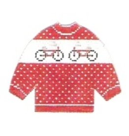 Stitch-It Bicycles on a Pullover sweater ornament