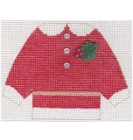 Stitch-It Mrs. Clause cardigan sweater -ornament