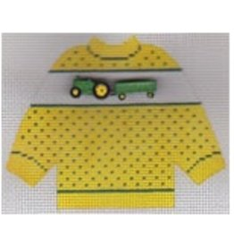 Stitch-It Specialty Button Sweater - John Deer Tractor - ornament